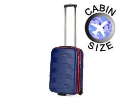 Mała walizka MARCH MW0100-04-52 niebieska BUMPER