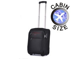 "Mała walizka ""MINI"" PUCCINI EM-50307 Camerino czarna"
