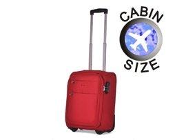 """Mała walizka """"MINI"""" PUCCINI EM-50307 Camerino czerwona"""