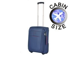 Mała walizka PUCCINI EM-50307 Camerino granatowa